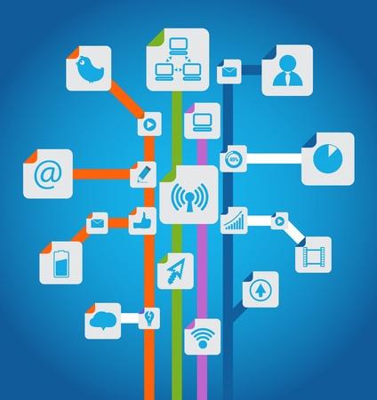 13102327 - modern social media abstract scheme